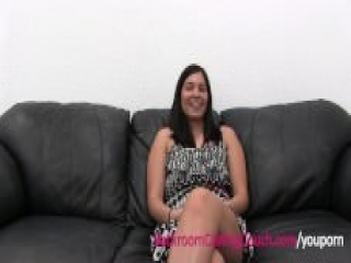 Cute First Time Amateur Creampie'd on Casting Couch